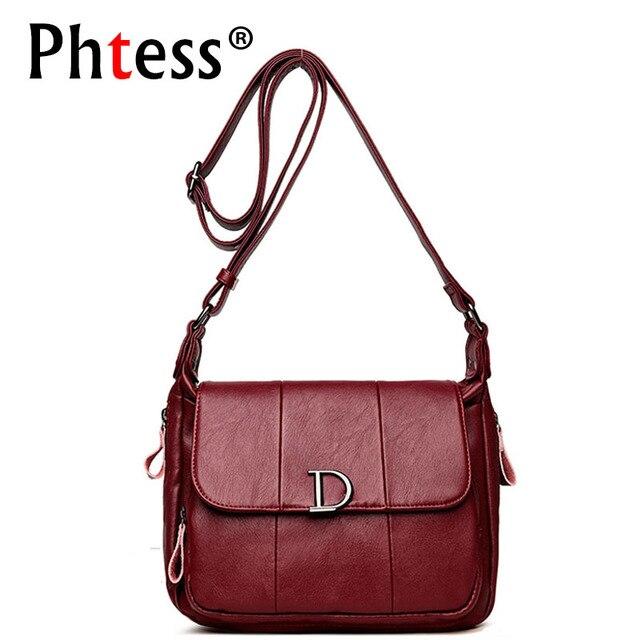 2018 Luxury Handbags Women Bags Designer Famous Brand Female Leather  Crossbody Shoulder Bags Ladies Messenger Bag Vintage Sac f736c2ddb1c55