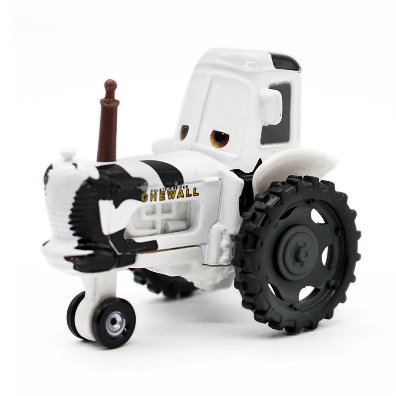 Disney Cartoon Cars Pixar Cars Cow tractor Alloy Diecast Metal Toy Car 1:55 Loose Brand New Model Car Toy for Kid