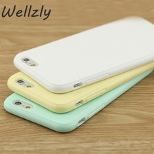 Wellzly Color Ultra Thin Phone Case For iPhone 6 6s 7 8 Soft Silicone Candy Back Cover For iPhone 6 6S Plus 7 8 Plus Case B81(China)