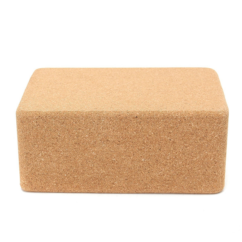 1 Pcs Yoga Block Pilates Cork Brick Pillow Cushion Home Stretch Gym Fitness Exercise