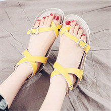 WADNASO Fashion Cork Sandals 2019 New Women Casual Summer Beach Gladiator Buckle Strap Shoe Flat with Plus Size 35-42
