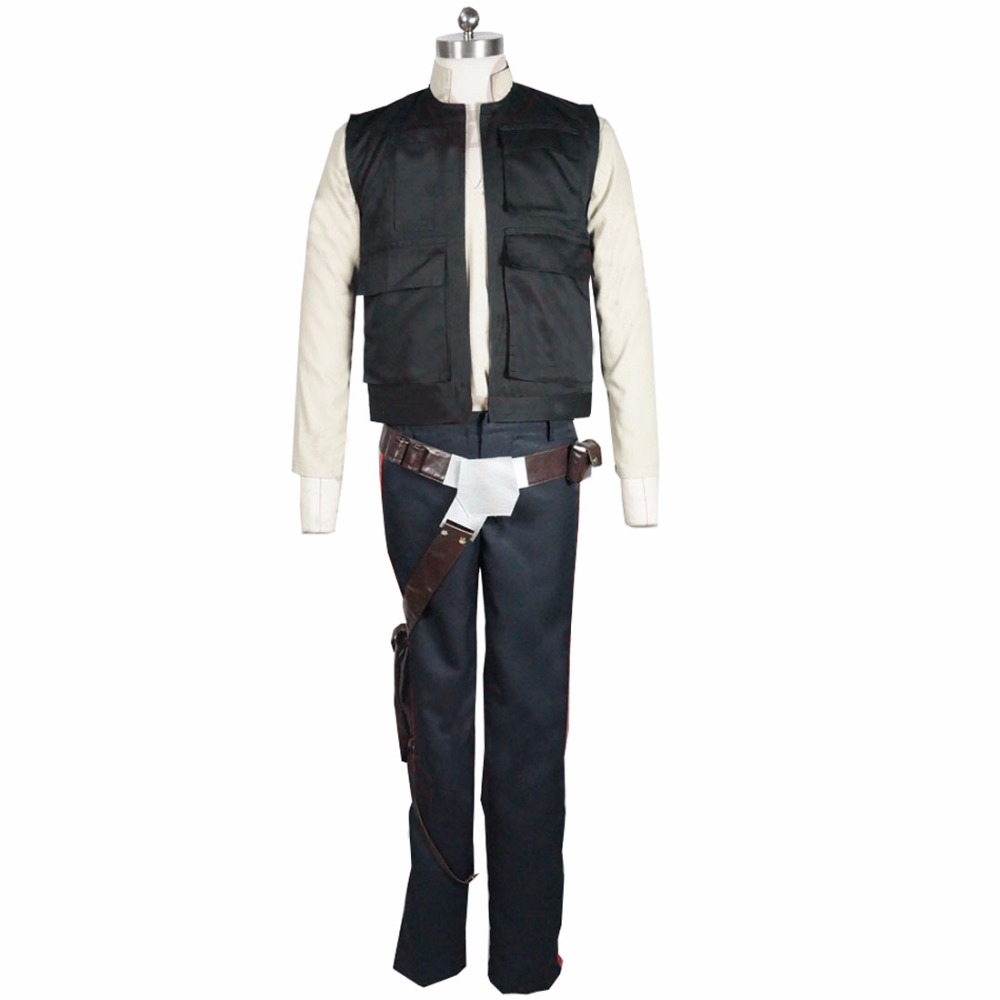 2017 Star Wars Han Solo ANH Belt Holster adults Halloween comic-con Cosplay Costume Men Adults