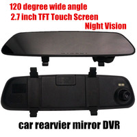 fashion car rearview mirror DVR video recorder 2.7inch 120 degree wide angle night vision comcorder