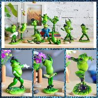 Free Shipping Baby Frog Figures Resin Toys Dancing Michael Kungfu Series Cake Car Office Desk Home
