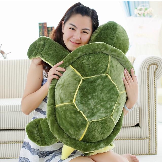 Huge Size Plush Tortoise Toy Cute Turtle Plush Pillow Staffed Cushion for Girls Vanlentine's Day Gift