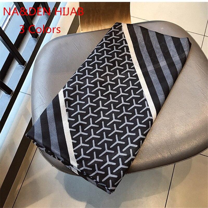 2019 High Quality Hot sale print geometric Striped Muslim hijab scarfs pashmina bandana vintage wrap shawl