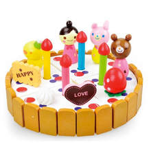D732 Free shipping strawberry cartoon snowman small cake Long wooden simulation play toys