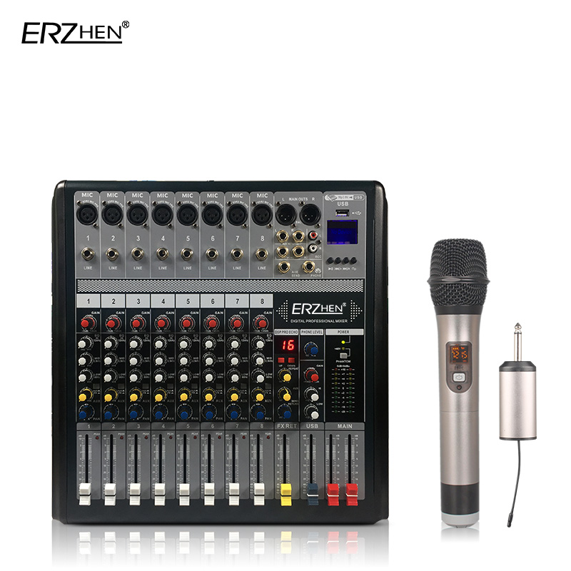 Radient Audio-mischpult W7000t8 Professionelle Mischer Audio-verstärker Sound Processor 8 Kanal Stabile Konstruktion Professionelle Audiogeräte