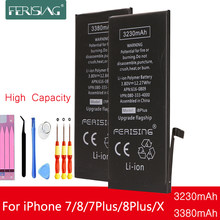 3230mAh/3380mAh FERISING Battery For iPhone 7 8 7P 8P Plus X high Capacity Phone Internal bateria For iPhone 7Plus 8Plus X(China)