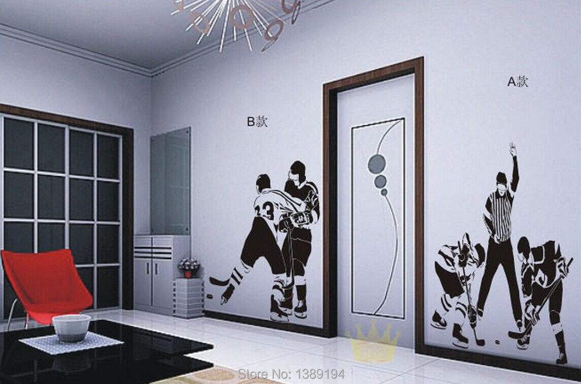 High Quality Ice Hockey Sports Wall Stickers Living Room