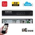 Cctv hd sdi sunchan 4ch 1080 p em tempo real de gravação/reprodução hdmi dvr 2 sata hdd segurança sdi dvr 4 canal