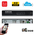 SUNCHAN CCTV HD SDI 4CH 1080P Real Time Recording/Playback HDMI DVR 2SATA HDD Security SDI DVR 4 Channel