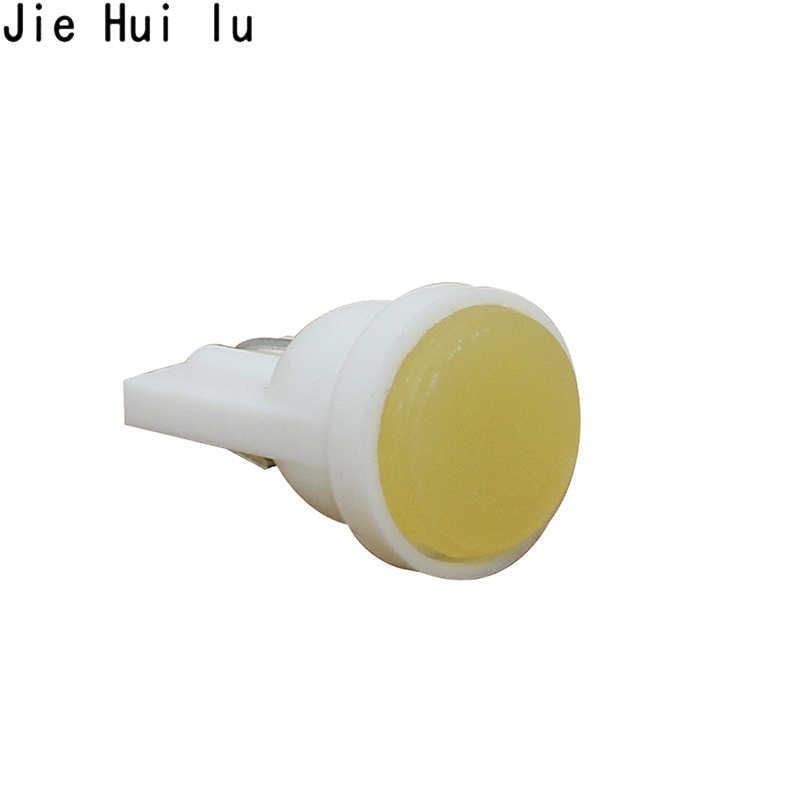 1 adet seramik araba iç LED T10 COB W5W 168 kama kapı enstrüman yan ampul lamba ışığı plaka işık beyaz/mavi/yeşil/kırmızı/sarı