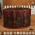 Урожай чая торт ящик для хранения , чтобы сделать старый деревянные ящики чай упаковки творческий кэдди могут быть настроены