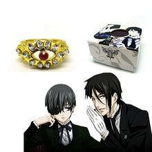 HOT Anime Black Butler Ring Kuroshitsuj Alois Trancy Family Ring Cosplay Pendant Toy Gifts