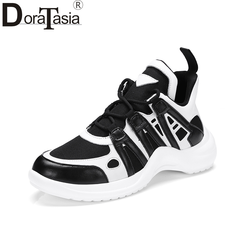 Doratasia 2018 Fashion Vulcanized Top Selling Sneaker Lace Up Spring Summer Women Shoes Leisure Shoes Woman Size 35-39
