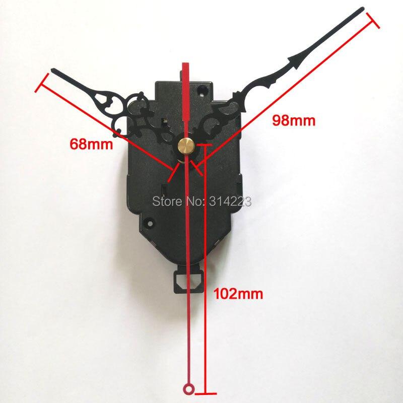 Wholesale! 10 set real 12888 Swing Movement Quartz Clock Movement for Clock Mechanism Repair DIY clock accessories 16.5mm shaft