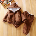 Multistyles Baby Boys girls winter Sets Children warm thick Clothing sets kidsTracksuits baby Sports suits vetement garcon N21