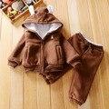 Multistyles muchachas de Los Bebés de invierno Establece Niños Ropa de abrigo gruesa establece kidsTracksuits bebé Deportes trajes vetement garcon N21