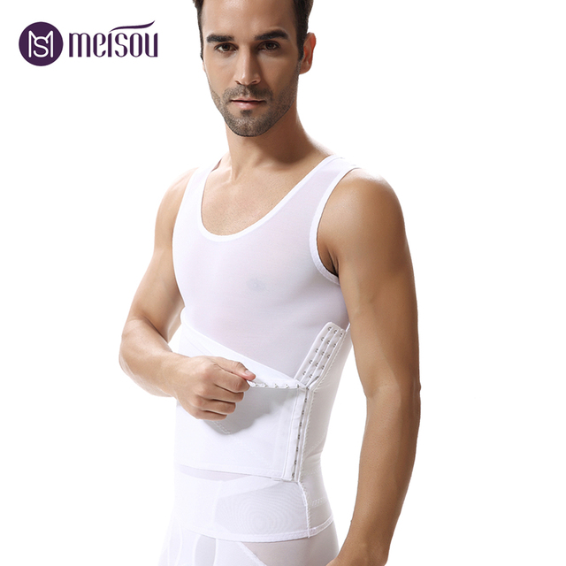b974fc0791258 Meisou Men Shaper Vest Slimming Tummy Belly Slimming Sheath Waist Girdle  Shirt Shapewear Underwear Body Shaper Men Briefs Corset