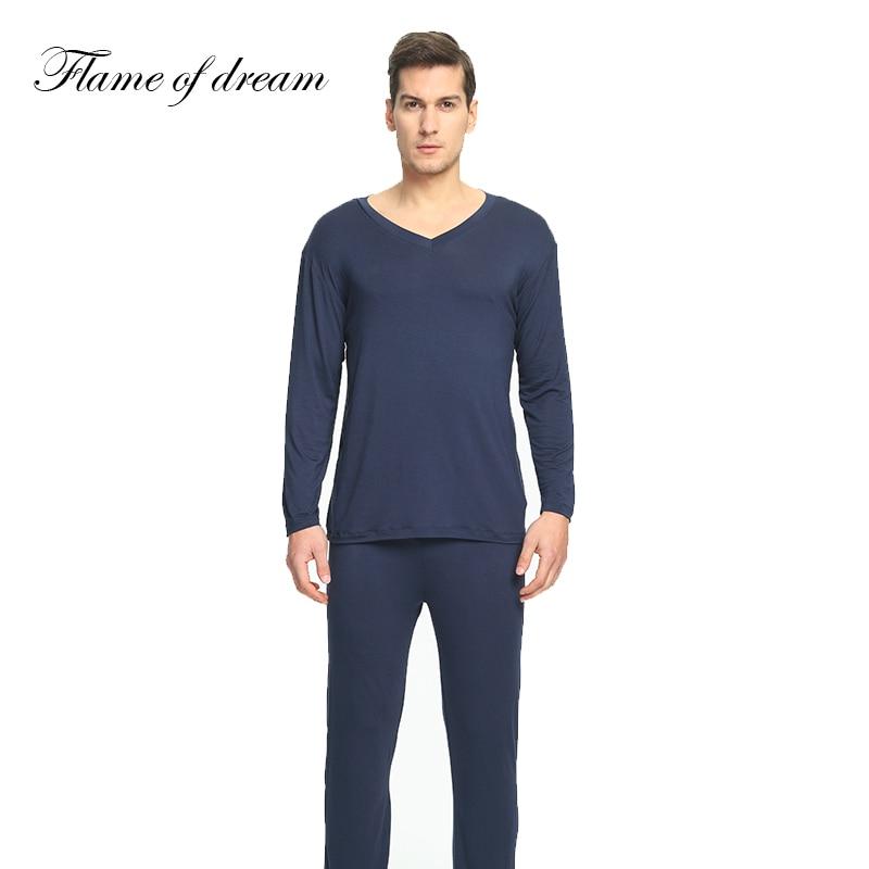 4ced94784 Comprar Material Modal Pijamas Para hombres ropa de dormir Pijama hombre  Pijama Masculino Hombre Ropa de hombre conjunto 114 Online Baratos