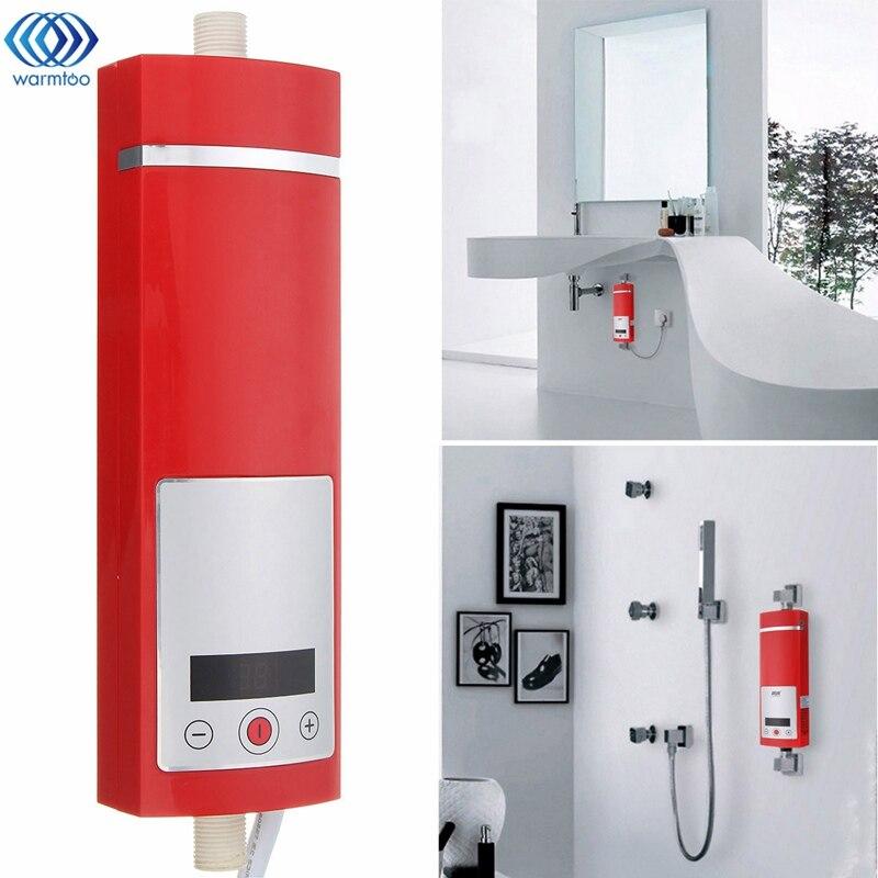 5500 W affichage numérique chauffe-eau électrique instantané contrôle de température Intelligent Type tactile salle de douche nouvelle mise à niveau