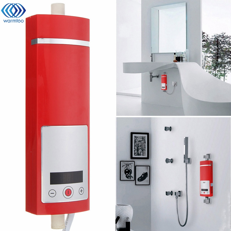 5500W Digital Display Instant Electric Hot Water Heater Intelligent Temperature Control Touch Type Shower Room New Upgrade