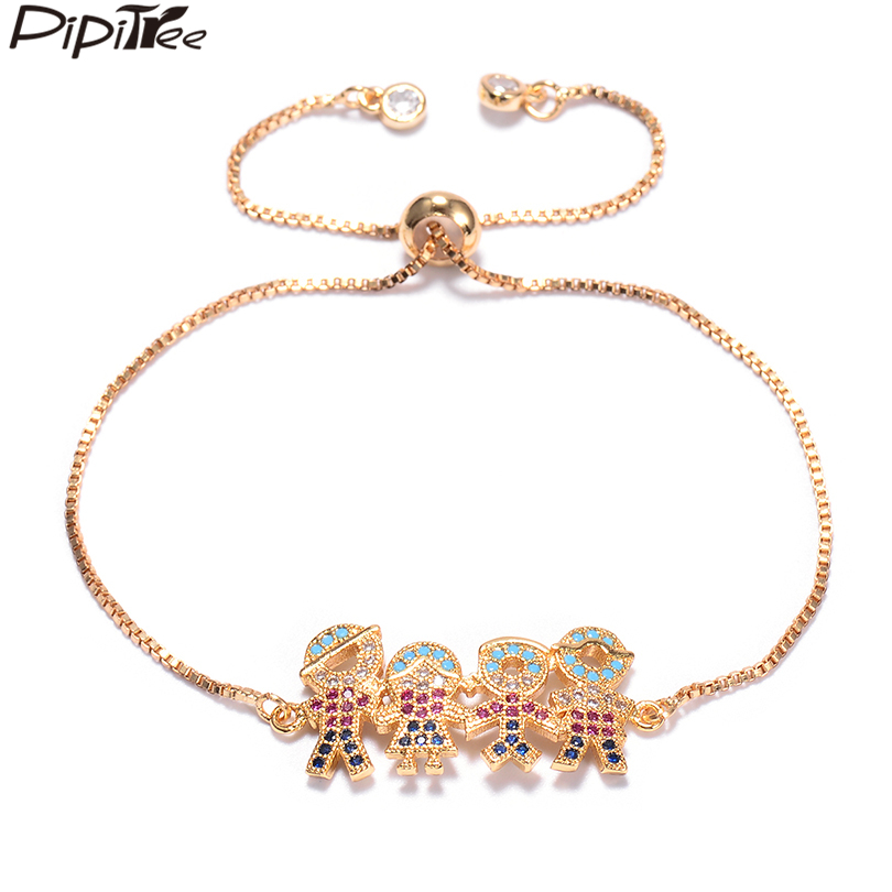 Femmes plaqué or cristal Transparent Vague Rigide Poignet European Charm Bracelet