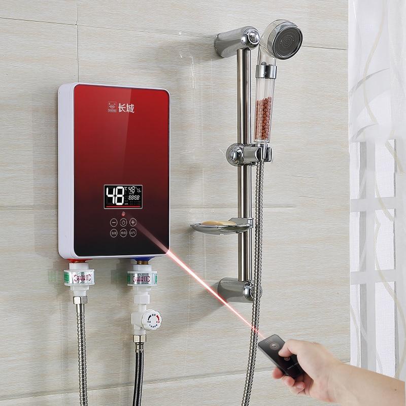 Elektrische Warmwasserbereiter Großgeräte 8500 W Instant Elektrische Wasser Heizung Haushalts Schnelle Heizung Tankless-wand Bad Küche Durchlauferhitzer SchöN In Farbe