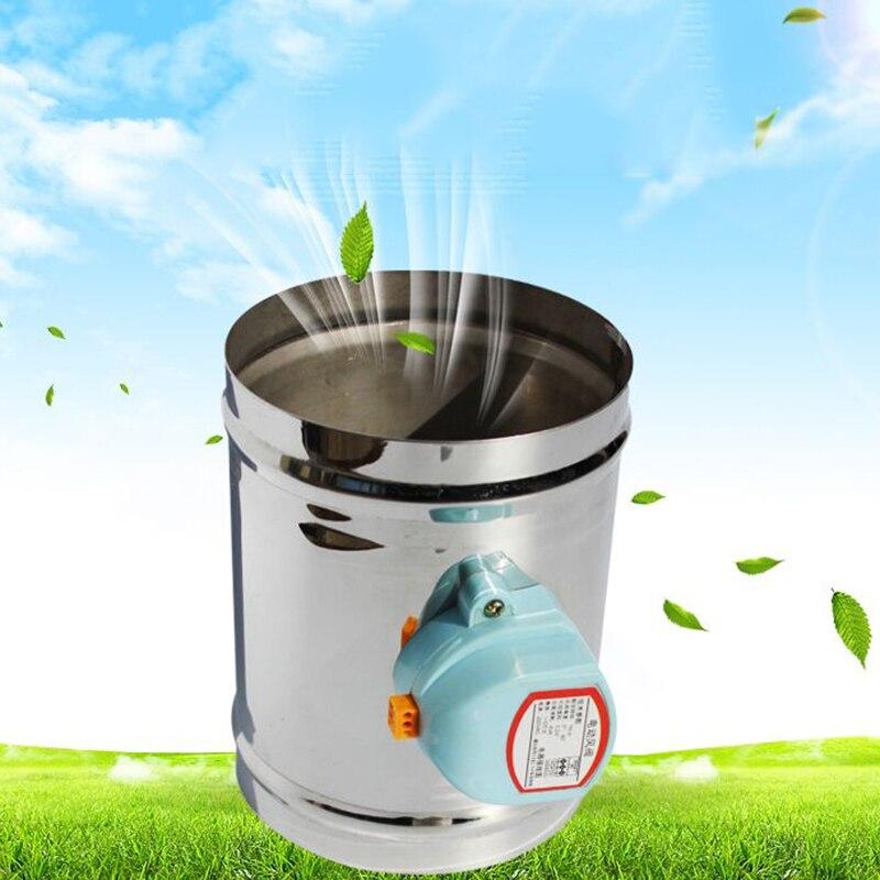 125mm edelstahl air dämpfer ventil HVAC elektrische luftkanal motorisierte dämpfer für 5 zoll belüftung rohr ventil 220 v