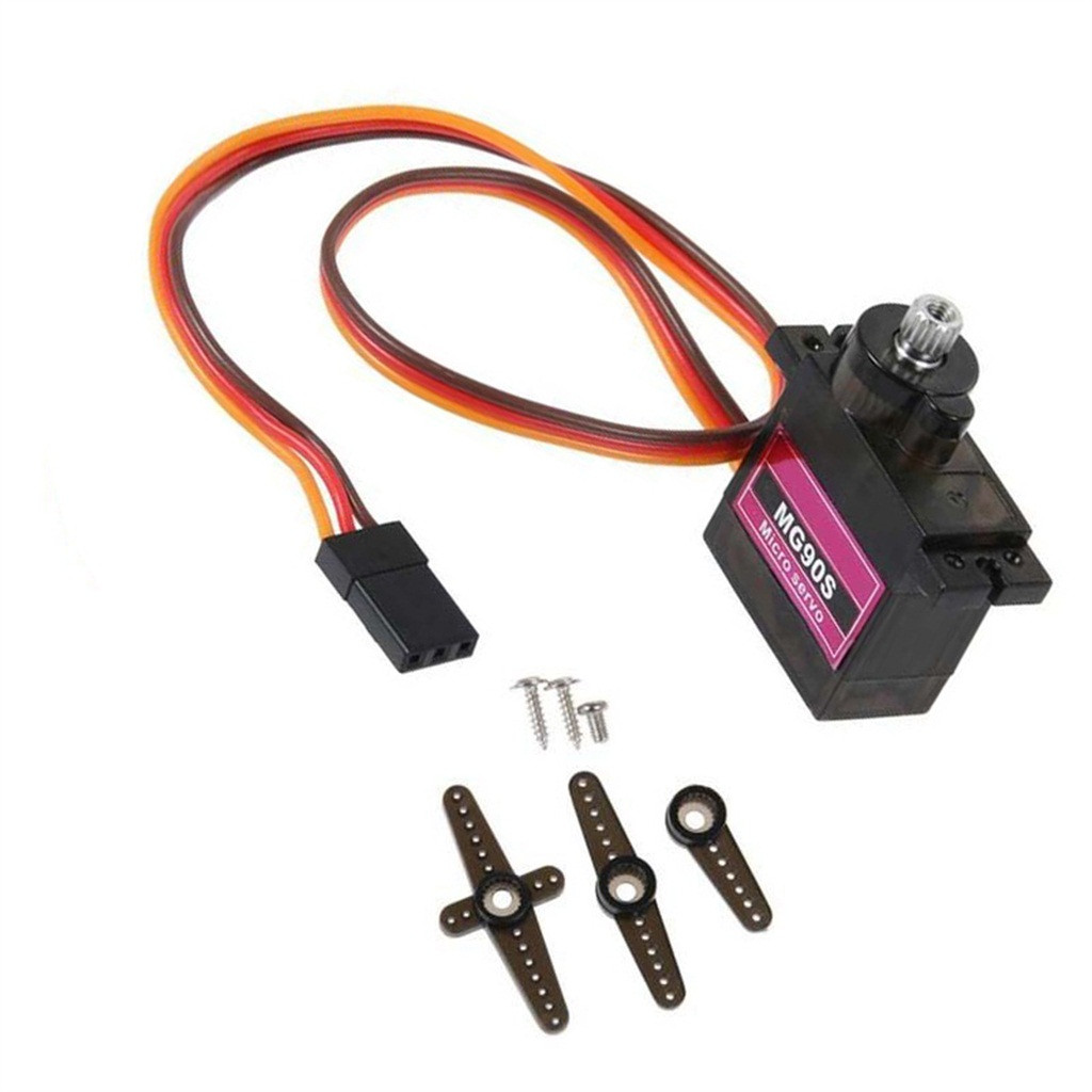 Remote control car accessories MG90S Micro Metal Gear 9g Servo for RC Plane Helicopter Boat Car 4.8V- 6V Z625(China)