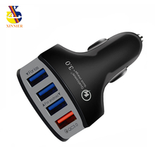 4 USB Quick Charger 3.0 Car Charger Adapter 7A QC3.0 Turbo F