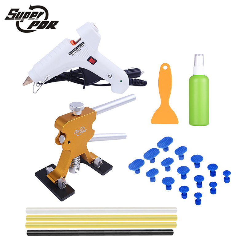 PDR tools dent repair tool kit 12v glue gun glue sticks dent puller hand tools auto body dent removal tools paint dripping printed long sleeve zippered hoodie