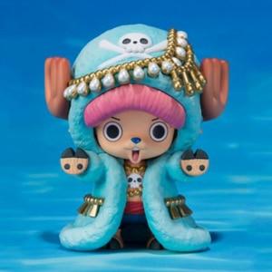 Image 1 - Nuovo One Piece Action Figures Anime Carino Tony Tony Chopper Renna ornamenti giocattoli bambola regalo di Modelli in pvc collezione Figurine WX262