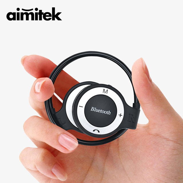 6699585b6d4 Aimitek Neckband Sports Wireless Bluetooth Headphone Stereo Earphones Music Player  Headsets TF Card Slot Microphone VS Mini 503