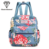 New Prting Canvas Women Backpack 2018 Spring And Summer Style Travel Small Bags Female Backpacks For