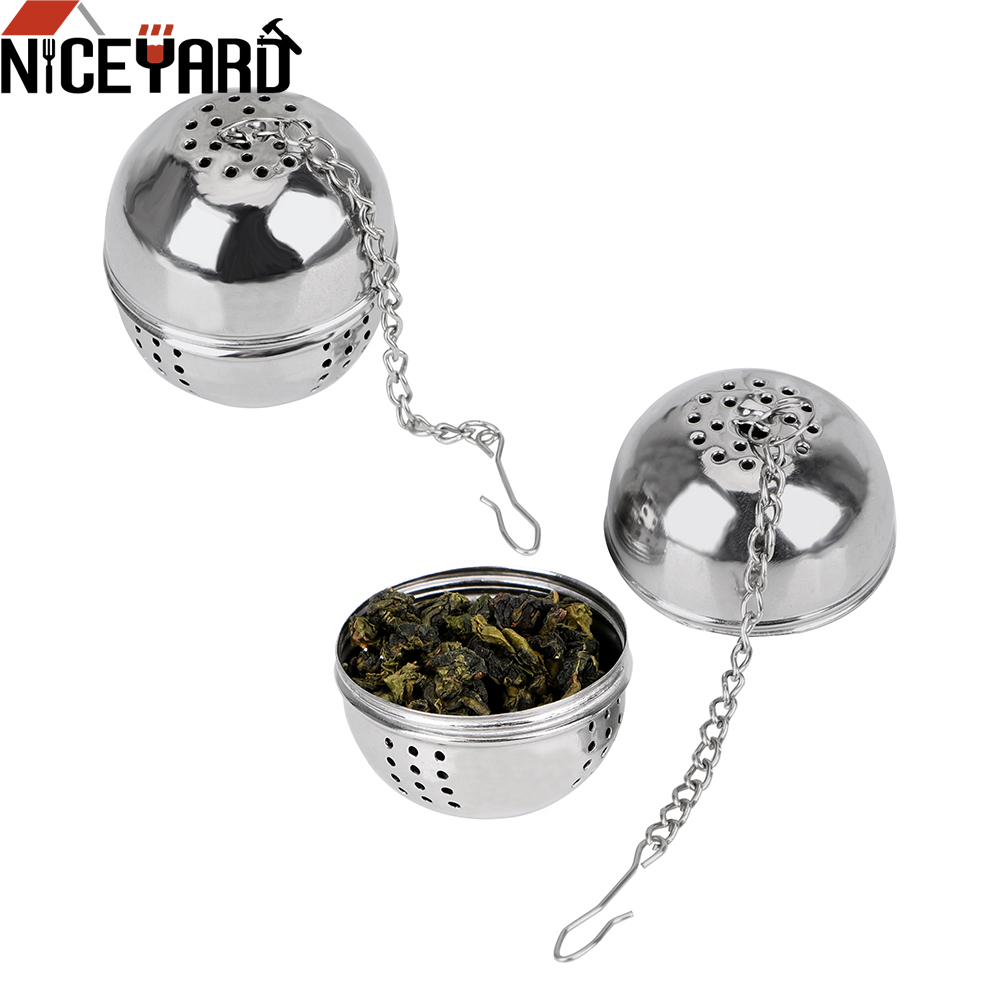 NICEYARD Stainless Steel Mesh Filter Strainer Ball Shape Tea Infuser Home Kitchen Accessories For Loose Tea Leaf Spice Hangable