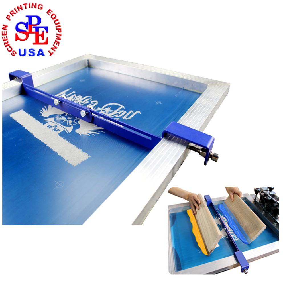 Stencial Isolator In Screen Printing Frame Two Color In One Platen Silk Screen Printing