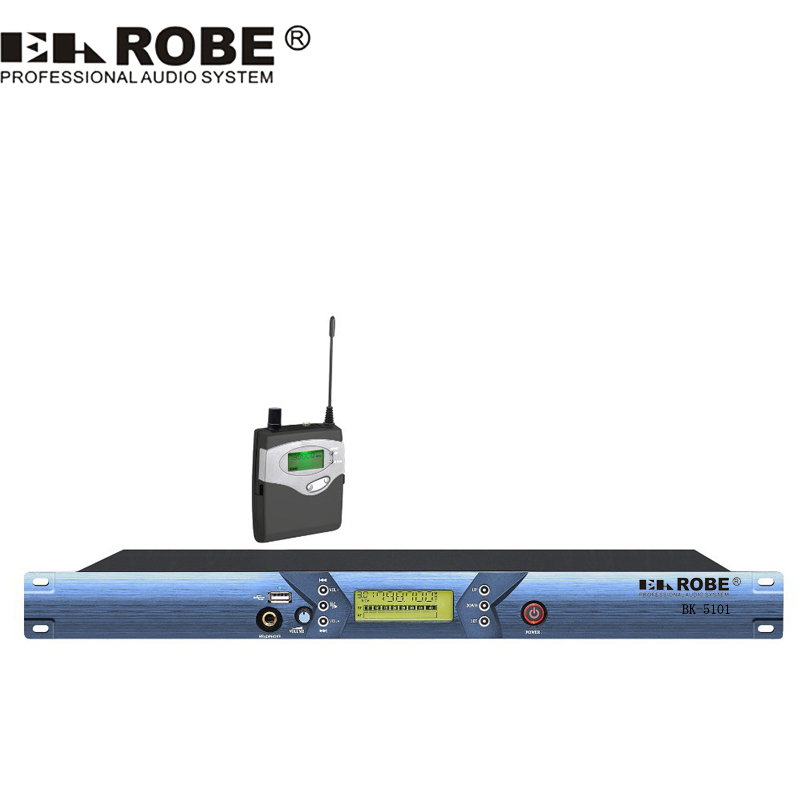 EAROBE BK-5101 Wireless In Ear Monitor System for Stage Performance, Wireless Monitoring System with corner brace and USB 2way2position ac110v 3 4 electric solenoid valve water air n c gas water air