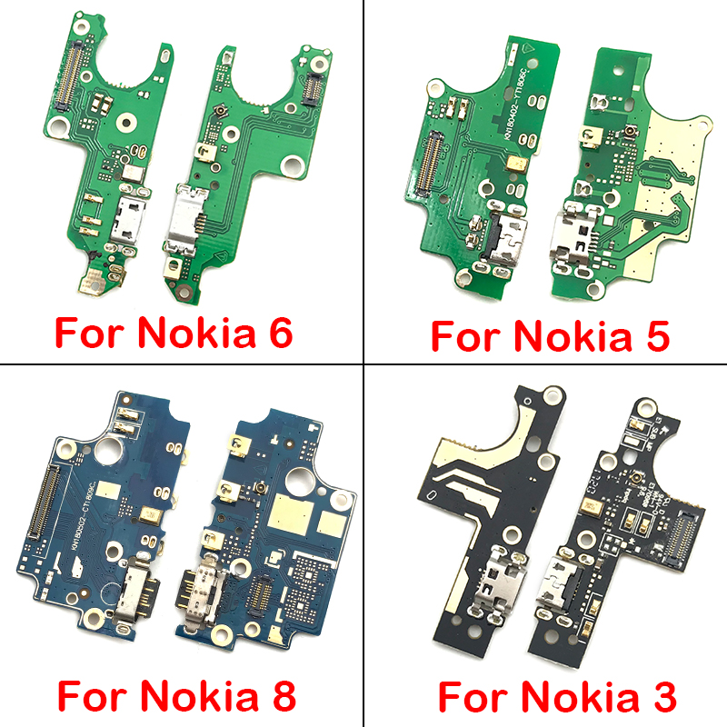 USB Power Charging Connector Plug Dock Port Mic Microphone Flex Cable Board For Nokia 1 2 3 5 6 7 8 X5 X6 X7 Repairs