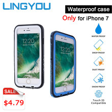 IP68 Running Swimming Phone Case Waterproof Shockproof Bumper Case For iPhone 7 Diving Outdoor Sport Full Body protection Cover(China)