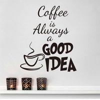 10pcs/Pack Coffee Good Idea Cup Kitchen Wall Sticker Vinyl Decal Art Pub Cafe Decor Mural