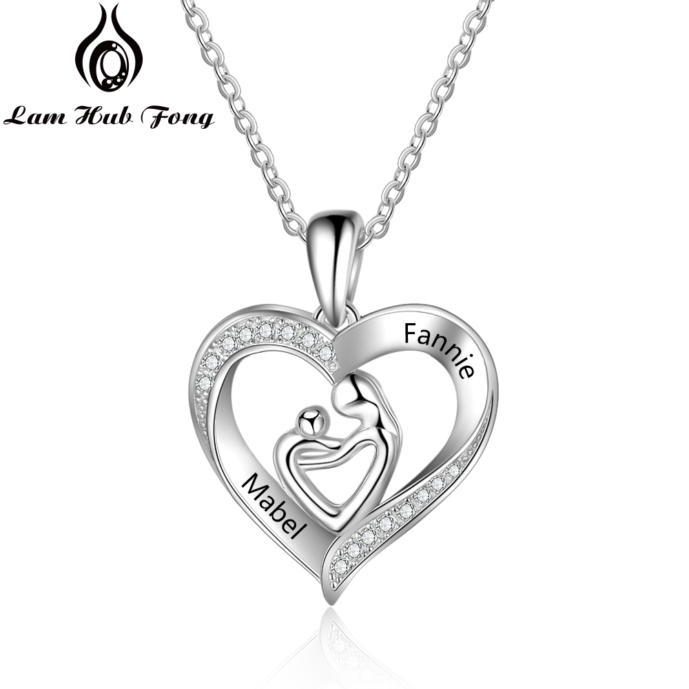 Personalized Mothers Engraved Sterling Silver Necklace