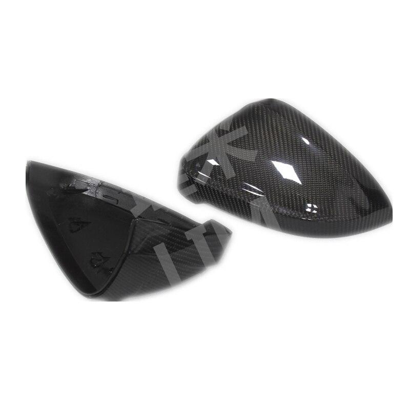Pour Audi A4 S4 B9 8 W A5 S5 8 T F5 2017 vraie Fiber de carbone porte latérale miroir aile miroir couverture remplacement accessoires de voiture