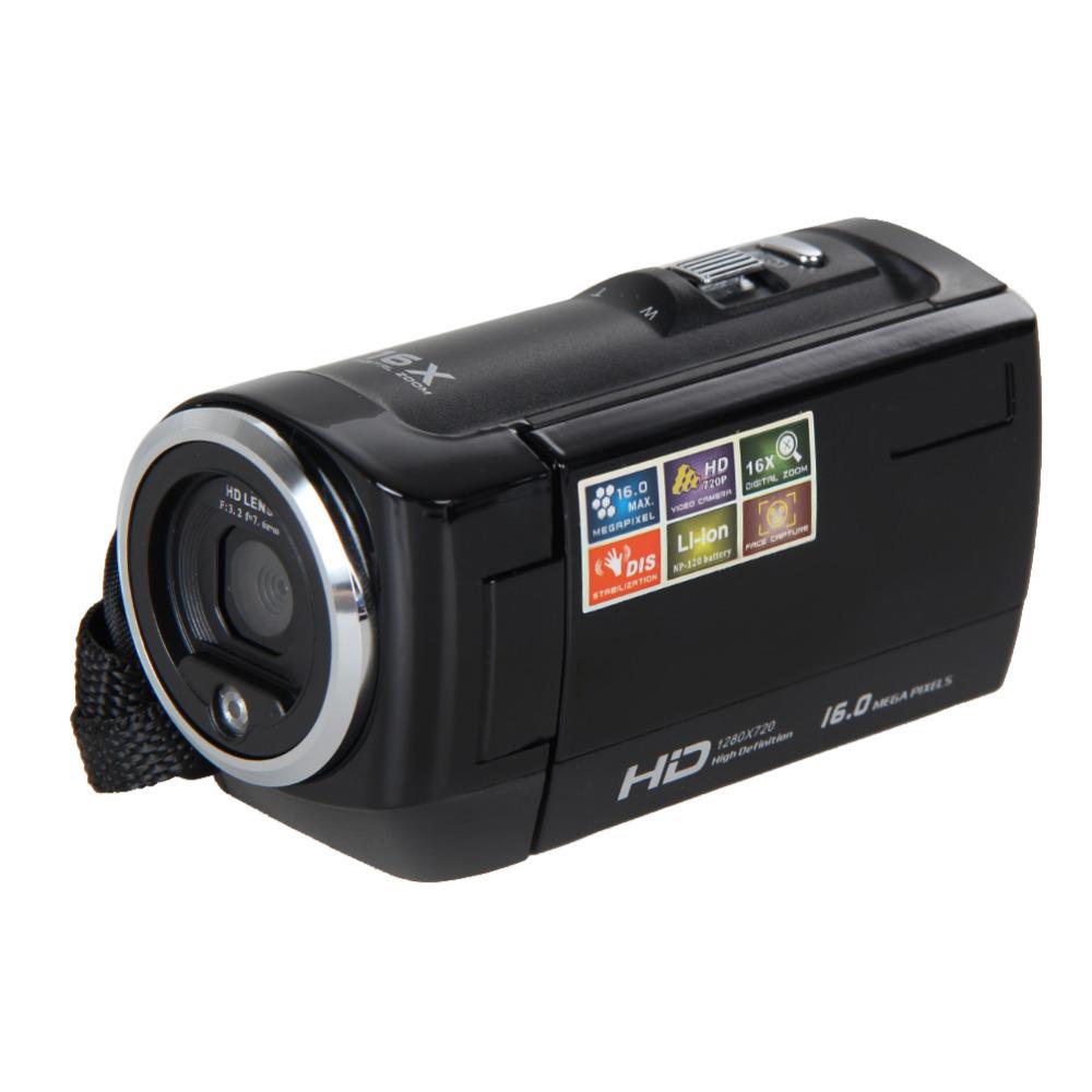 """Prix pour 2015 Populaire Voyage Portable HD720P 16MP Caméra Vidéo Numérique Caméscope DV DVR 2.7 """"TFT LCD 16X ZOOM Noir"""