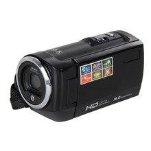 """2015 Populares de Viaje Portátiles HD720P 16MP Cámara de Vídeo Digital Videocámara DV DVR 2.7 """"TFT LCD con ZOOM de 16X Negro"""