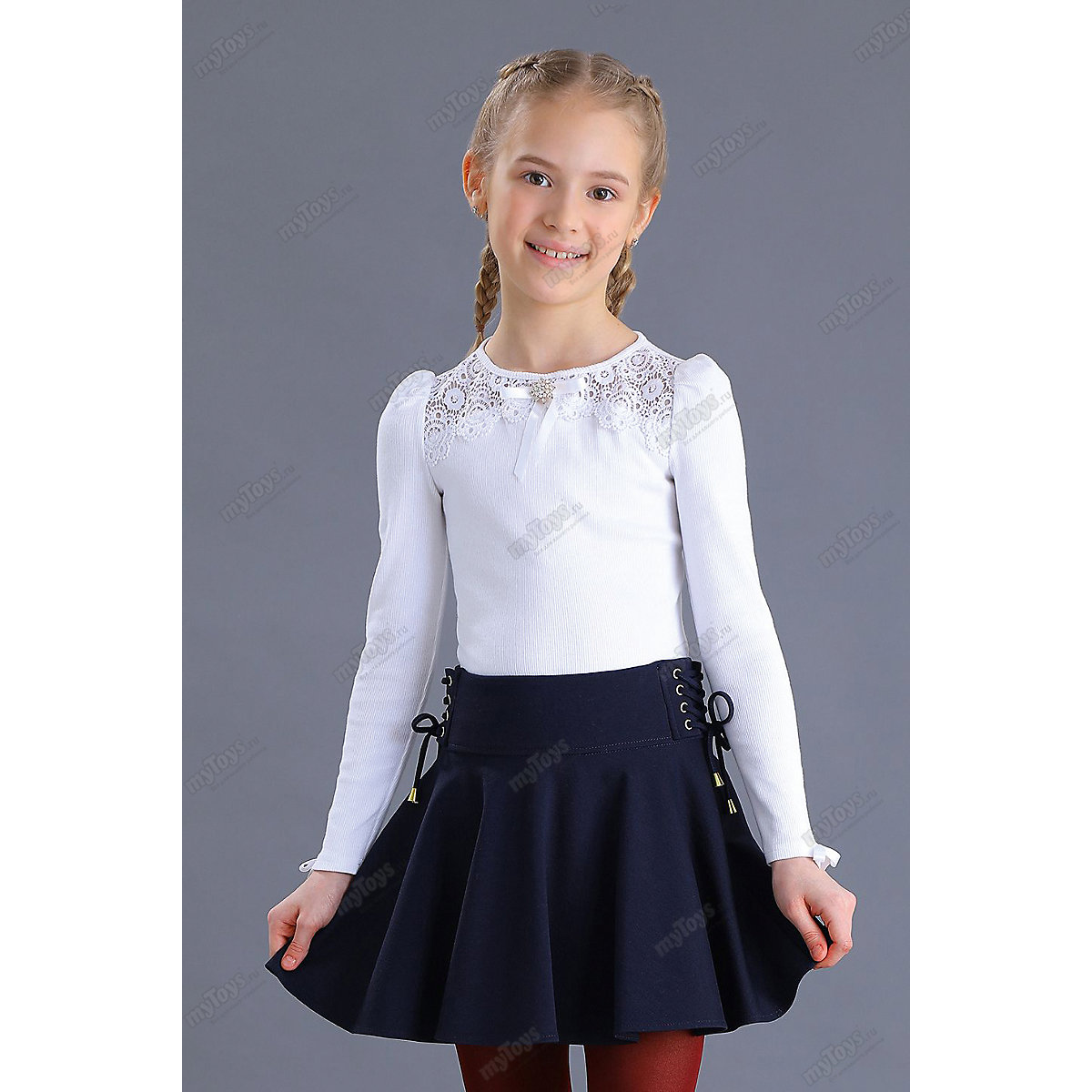 Malenkaya Lady Blouses & Shirts 11686165 blouse for girl school  clothes jacket wardrobe childrens shirt White Blue Girls O-Neck plus size leaf sheer v neck blouse