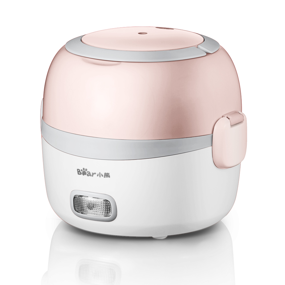 220V Single Layer Multifunction Electric Heating Box Mini Portable Electric Rice Cooker Stainless Steel Inner EU/AU/UK/US original box uk gec 807 vt60 sound super single price
