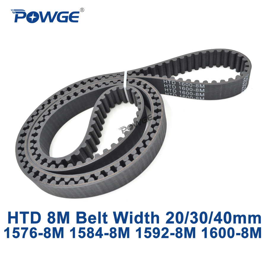 POWGE HTD 8M synchronous Timing belt C=1576/1584/1592/1600 width 20/30/40mm Teeth 197 198 199 200 HTD8M 1576-8M 1584-8M 1600-8M powge htd 8m synchronous belt c 520 528 536 544 552 width 20 30 40mm teeth 65 66 67 68 69 htd8m timing belt 520 8m 536 8m 552 8m