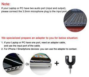 Image 5 - Felyby SF666 プロフェッショナルコンデンサー録音カラオケマイク pc/ラップトップ/電話 3.5 ミリメートルのデスクトップ microfone